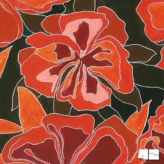 fi3b3r fluroflowers Acryl auf Leinwand 60x30cm-Vorschau