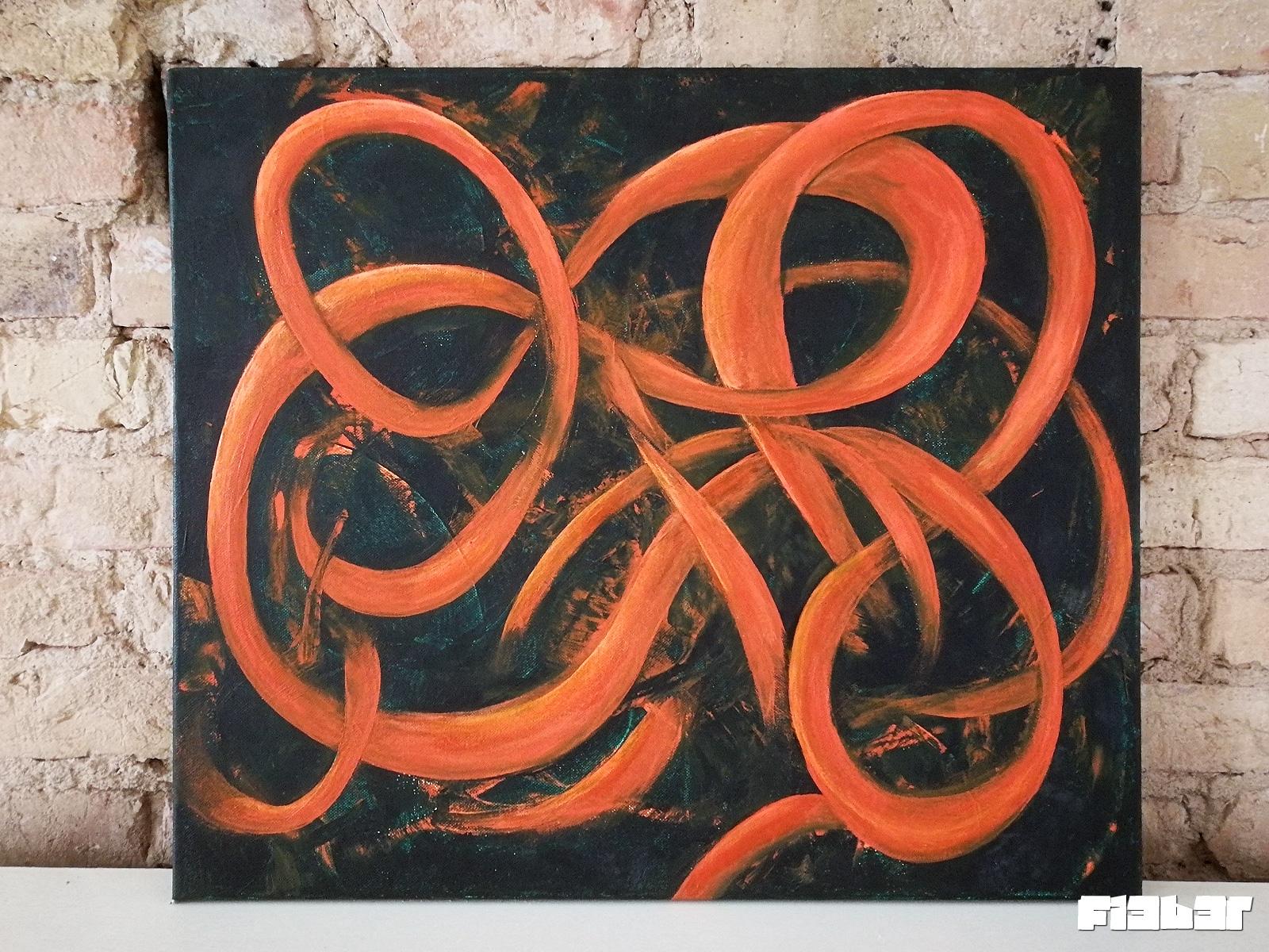 fi3b3r myMind Acryl auf Leinwand 60x50cm