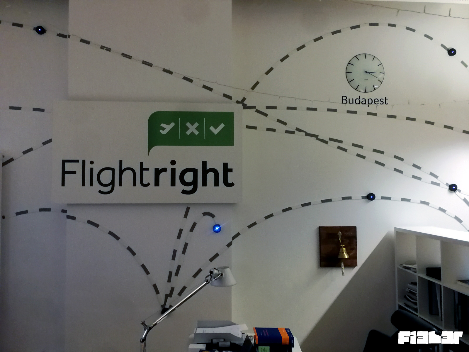 Wandgestaltung Flightright Büro Berlin