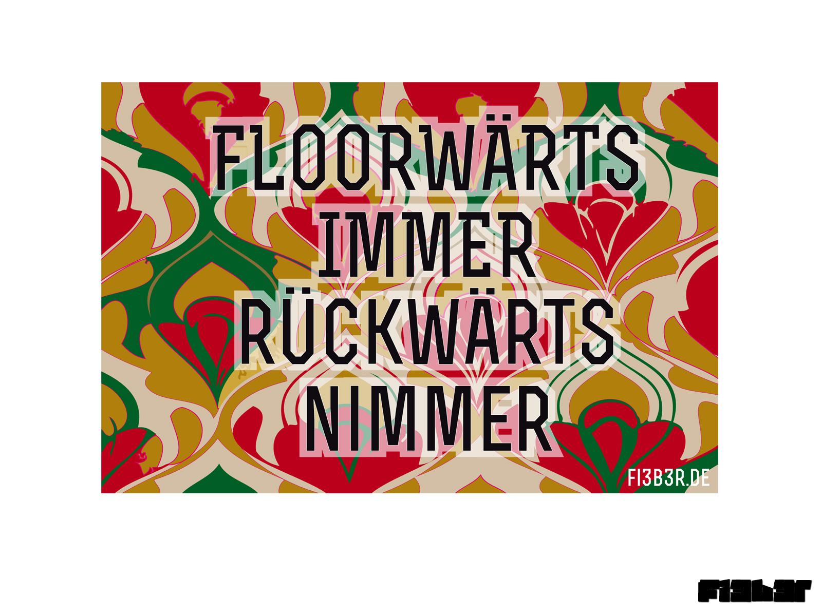 Sticker FLOORWÄRTS IMMER