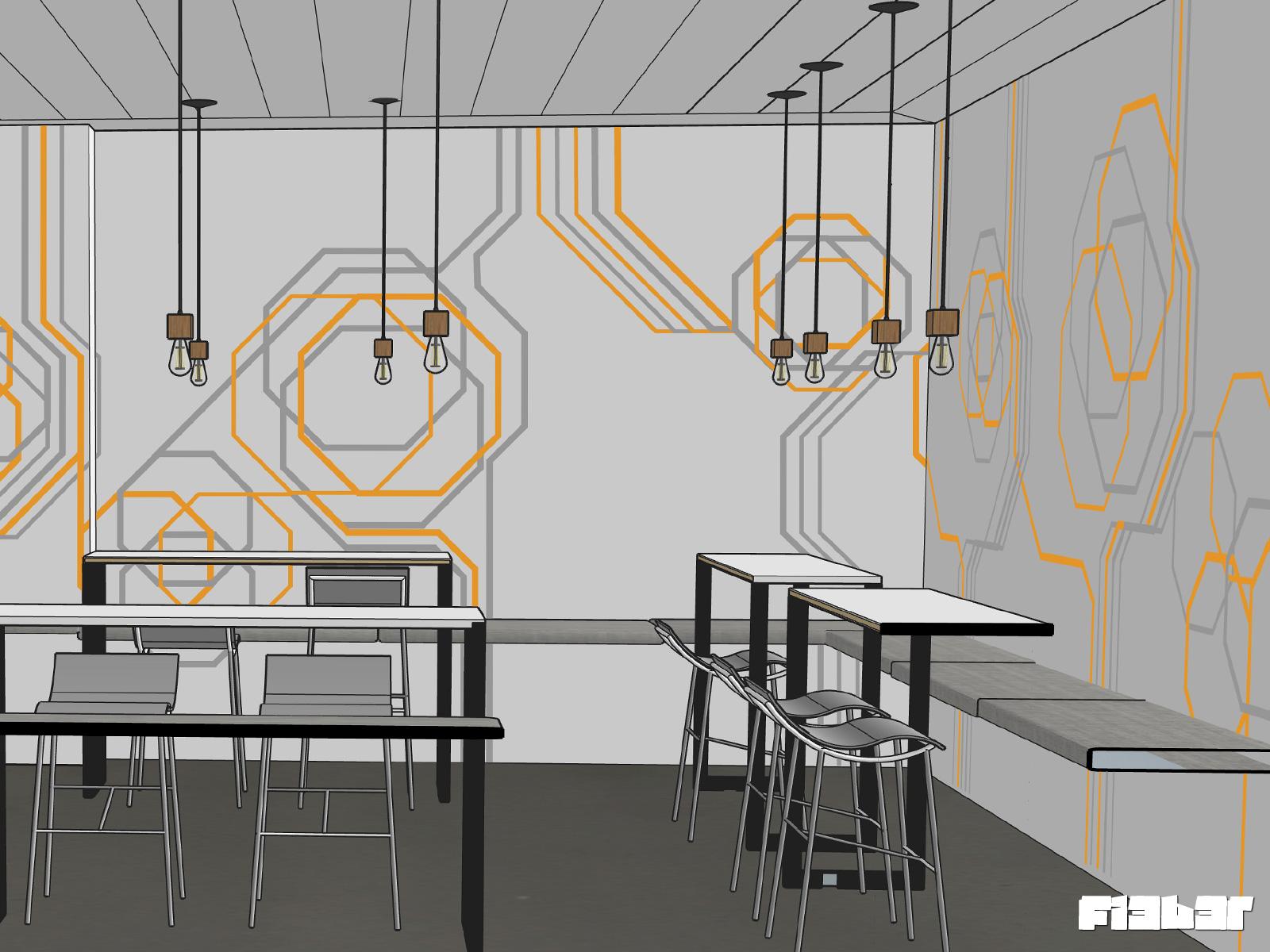 Tapeart Entwurf Büro-Küche udn Speisezimmer Berlin