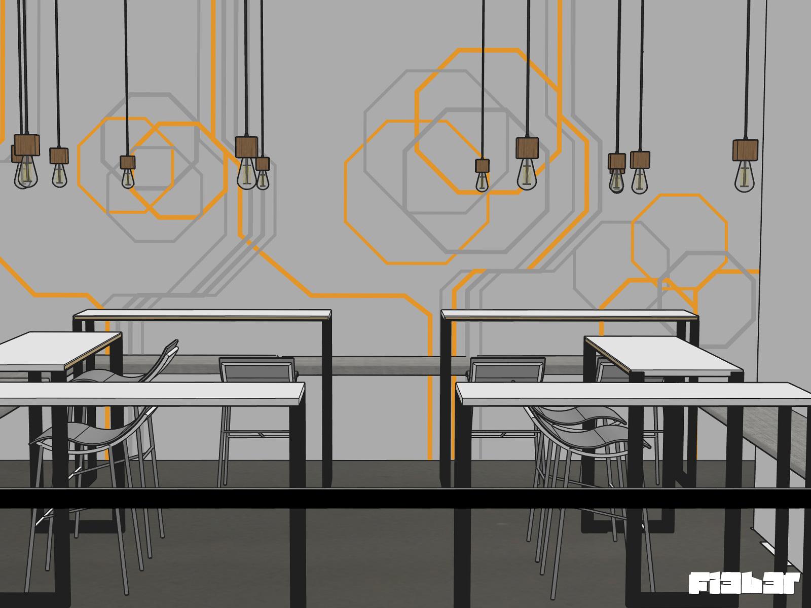 Tapeart Entwurf Büro-Küche und Speisezimmer Berlin